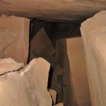 This is looking past the door plate collapse at the warning marker blocking the passage to the main tomb/ vault.